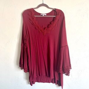 Beautiful maroon blouse
